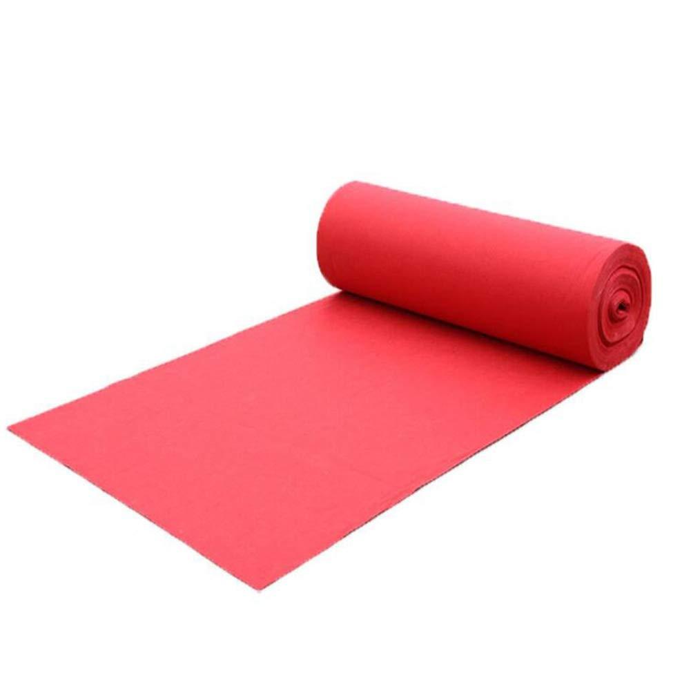 JIAJUAN 結婚式カーペット 儀式 通路 ランナー ラグ ハリウッド 映画 大 赤 カーペット 展覧会 会場 デコレーション、 5つの厚さ (色 : Red-2.2mm, サイズ さいず : 1.2x30m) B07RZSY35J Red-2.2mm 1.2x30m