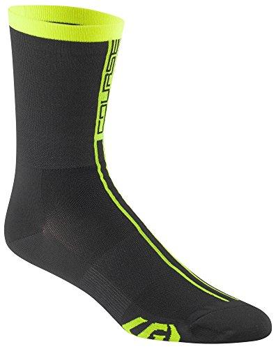 - Louis Garneau - Men's Course Ultra Thin Performance Cycling Socks, Black/Bright Yellow, Large/X-Large
