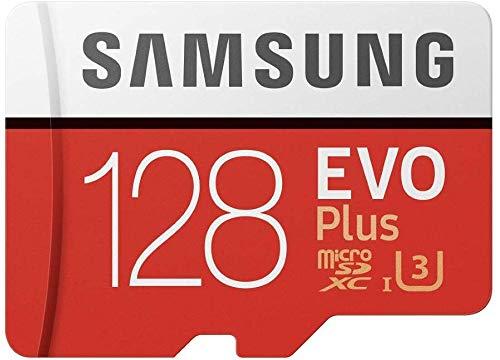 Ensales MicroSDXC EVO Plus Speicherkarte mit Adapter 128 GB (MB-MC128GA/AM) Bundle mit Micro SD Kartenleser (blau)