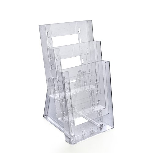 Azar 252305 Three-Tier Bi-Fold Size Brochure Holder for Counter, 2-Pack by Azar Displays