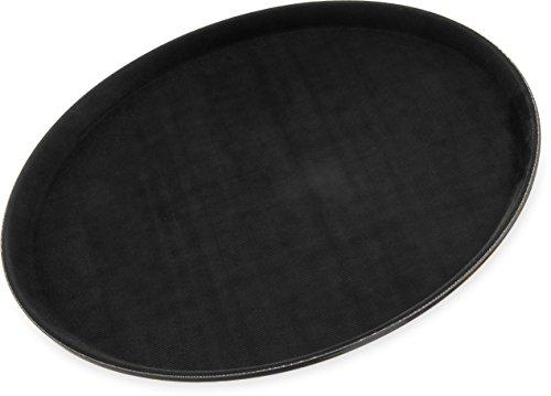 "Carlisle 1600GL004 GripLite Serving Tray, 16-7/16"", Polypropylene, Black (Pack of 12)"