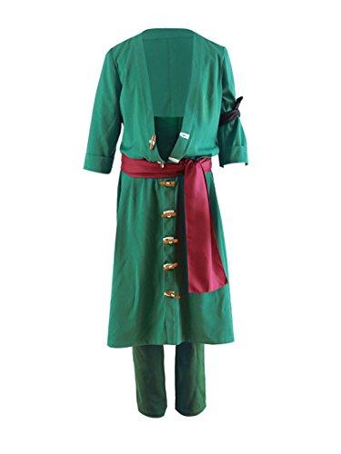 Zoro Cosplay Costume (DAZCOS US Size Adult Roronoa Zoro 2nd Cosplay Costume (Men XL))