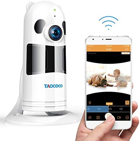 TAOCOCO Pet Camera, Dog Camera 1080P HD Pet Monitor WiFi IP Camera Surveillance Home Baby Camera for Elder Animal Baby with HD Night Vision, Motion Detection,Two Way Talking White