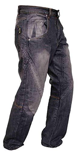 Newfacelook Herren Jeans Bikerhose, Schwarz