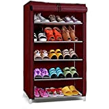 Ebee 5 Shalves Shoe Cabinet (Maroon)
