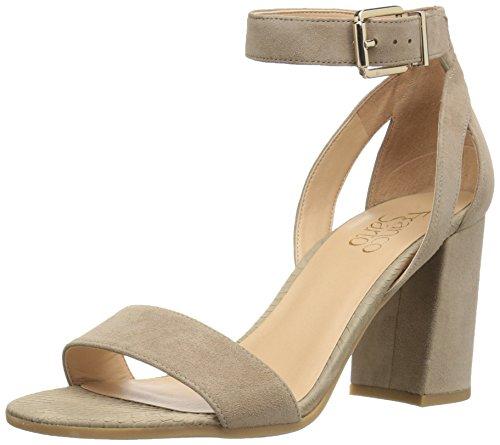(Franco Sarto Women's Malibu Heeled Sandal, Satin Taupe, 8.5 Medium US)