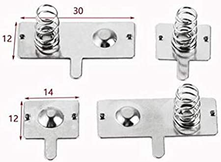 Size : 14 * 12mm 12mm F-MINGNIAN-SPRING 50sets No.5 Battery Shrapnel AA Battery Spring Piece 5#spring Toy Remote Control Battery Contact Piece 14
