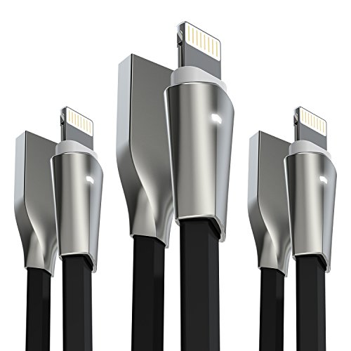 Aimus Phone Charger Cable, 3 Pack 0.4FT+4FT+6FT Data Cable L