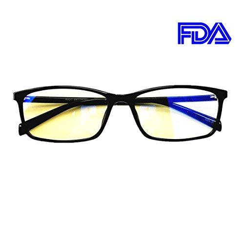 f4418b3b8b Blue Light Blocking Glasses Computer Eyeglasses Frame Non Prescription  Lightweight Black for Women Men …