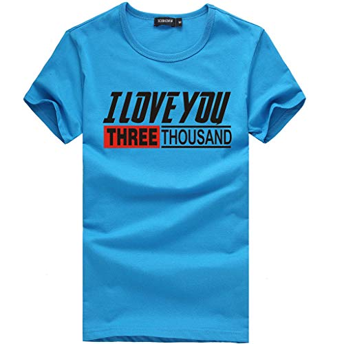 MmNote mens clothes clearance sale, Mens Bodybuilding Casual Workout Training Athletic Short Sleeve T-Shirt Blue (Best Pizza Hut Menu Item)