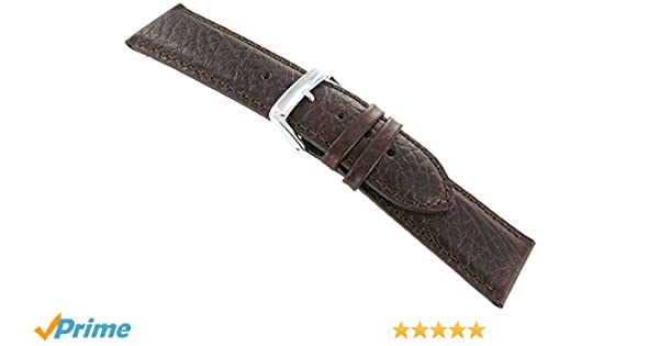 2060ae23b30 Speidel Genuine Leather Watch Band 19mm Brown Cowhide Buffalo Grain ...