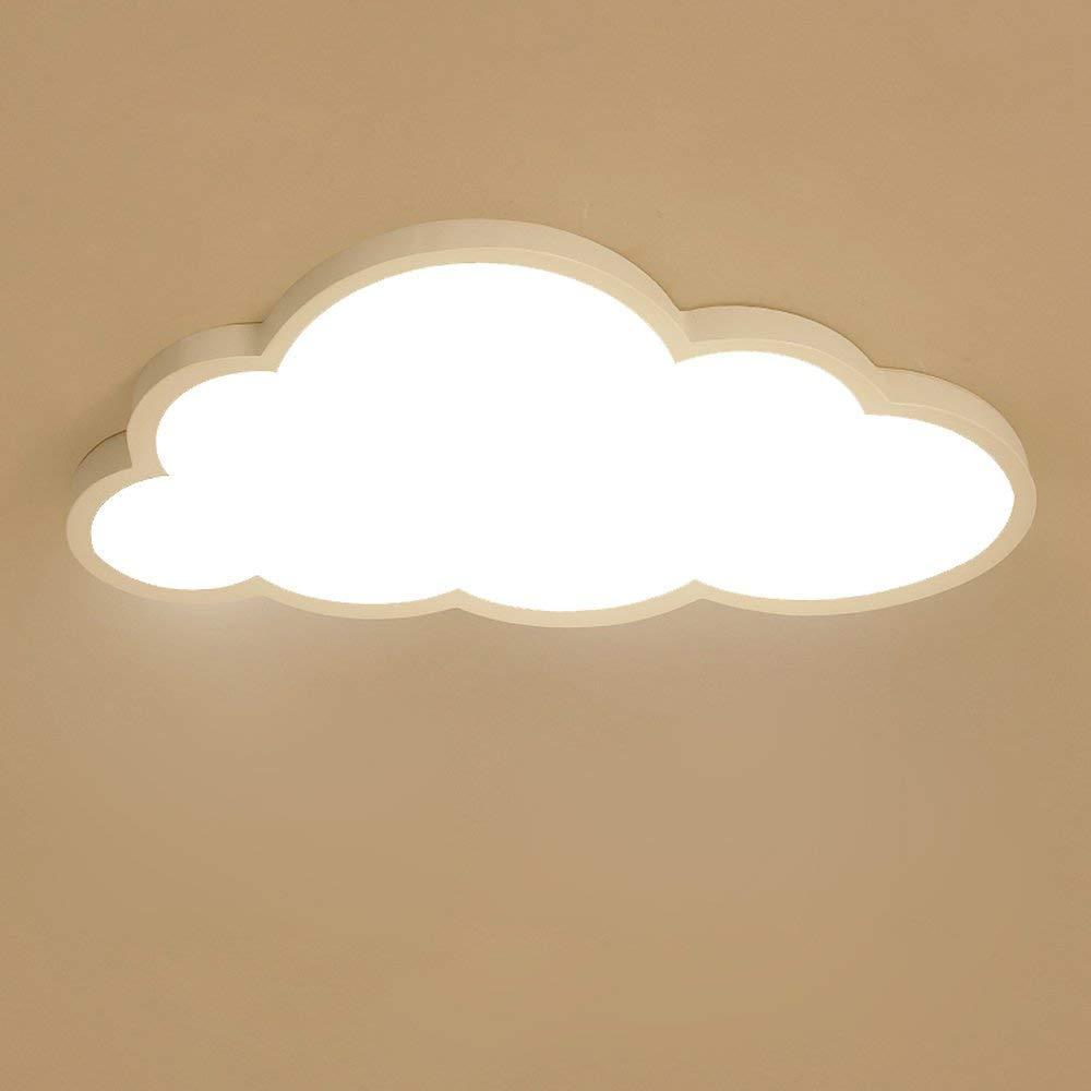 Deckenleuchte LED ultradünne 5 cm Kreative Wolken Deckenlampe Kinderzimmer Deckenleuchte Jungen Und Mädchen Schlafzimmer Lampe Einfache Cartoon Romantische Deckenlampe (Stufenloses Dimmen) Lanxi