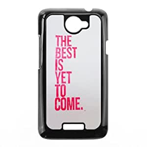 HTC One X Cell Phone Case Black quotes best is yet to come LV7108710