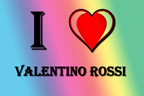 Price comparison product image I HEART VALENTINO ROSSI FRIDGE MAGNET