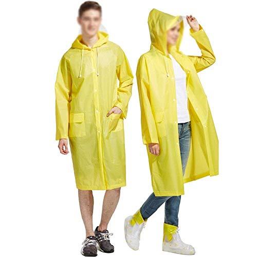 Mujeres Y Senderismo Capucha Yellow1 Lluvia Estilo Al Impermeable Fiesta Libre Para Con Transparente Adultos Aire Monocasco qCxcEtw4gt