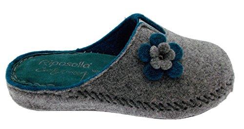 Laine 40760 de Riposella Grise Fleur de Art Bouillie Tissu Bande Huile Large Extra xxP8S