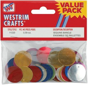 Value Pack Bangle Sequins 20mm-multi 130/pkg - Westrim Value Pack
