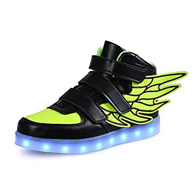 saguaro high top led boots shoes with wings