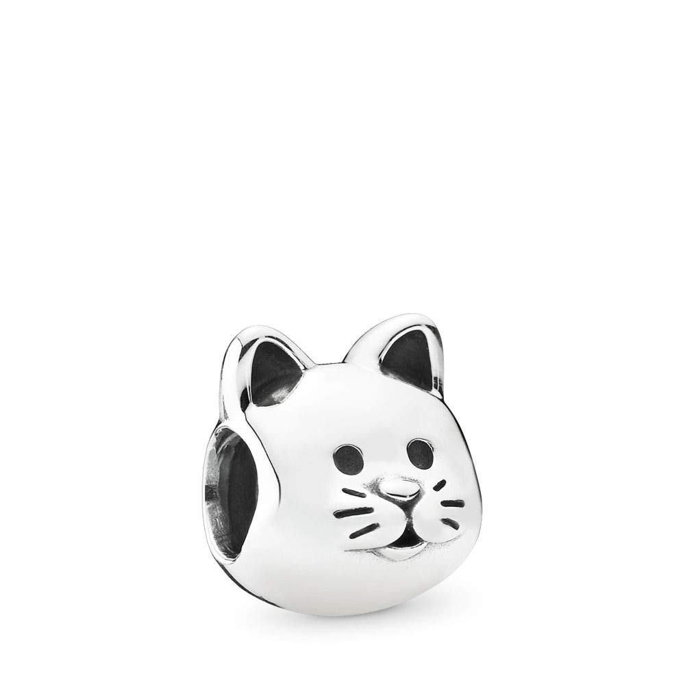 PANDORA Curious Cat Charm, Sterling Silver, One Size by PANDORA