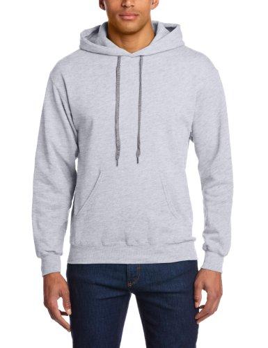 Fruit Of The Loom Mens Lightweight Hooded Sweatshirt / Hoodie (240 GSM) (L) (Heather Grey) (Fruit Of The Loom Hooded)