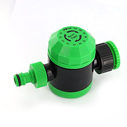Tinksky Automatic Irrigation Controller Watering Mechanical Water Timer Garden Hose Sprinkler ,Green