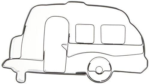 41krm7aL5BL Städter Wohnwagen 8 cm, Edelstahl, Silber, 8 x 4 x 1 cm