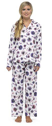 Ladies Wyncette Button Top Sheep pajamas Set