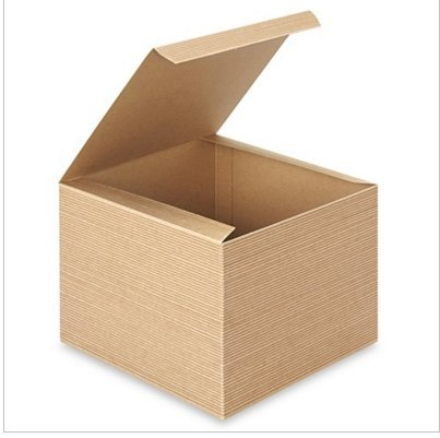 8 in. X 8 in. X 6in. Kraft Gift Boxes - Pack of 5 Brown Color