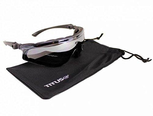 Biker Motorcycle Riding Sun Glasses Adjustable Arm Stem Tilting Mirror (Intruder Sunglasses)