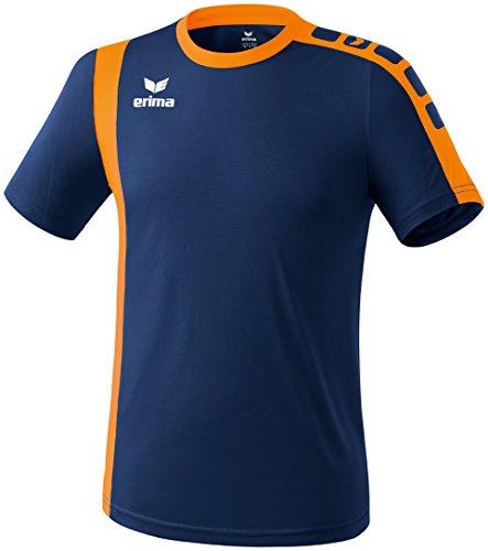 Erima Zamora - Camiseta de fútbol New Navy/Neon Orange