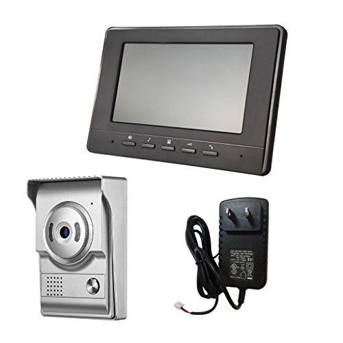 Blesiya 7inch LCD Camera Video Doorbell Intercom Monitor Safety US Standard - Silver by Blesiya