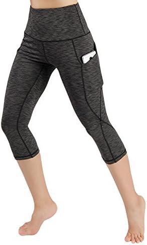 ODODOS High Waist Out Pocket Yoga Pants Tummy Control Workout Running 4 Way Stretch Yoga Leggings