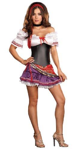 Gypsy Krystal Ball Costume (As Shown;Small)