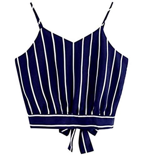 V sexy small a Sweet ricamo estate da spalline scollo sport Bravehope Blue1 Short donna senza Vest Blue1 pZq0FxpwO