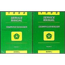 1998 Chrysler Sebring Dodge Avenger Repair Shop Manual Original 2 Volume Set
