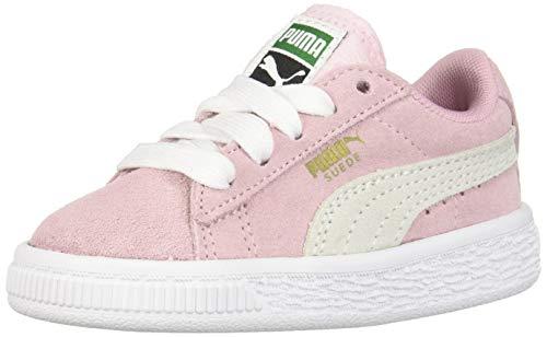 PUMA Baby Suede Kids Sneaker, PinkLadyWhite, 5 M US ()