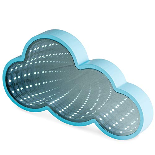 LED Magic Infinity Tunnel Mirror: Blue Cloud Shaped for sale  Delivered anywhere in USA
