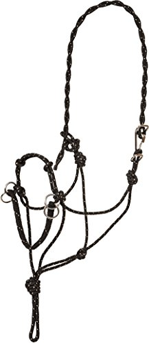 Bitless Halter/Bridle by Southwestern Equine (Black/Tan)