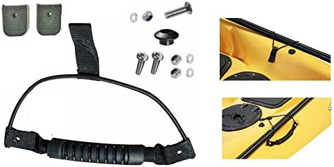 fixings and Paddle Clip Shock Cord H2o Kayaks Moulded Webbing Handle with end caps