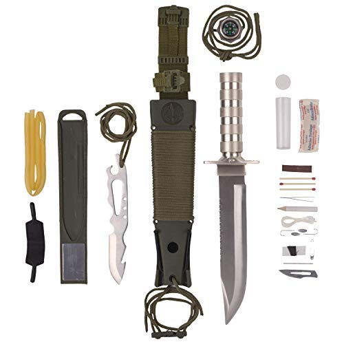Piece Camping 12 Set (Maxam 12-Piece Survival Knife Set with Zinc Alloy Handles, Ideal for Survivalists, Hunters, Hikers, and Outdoor Sports Enthusiasts)