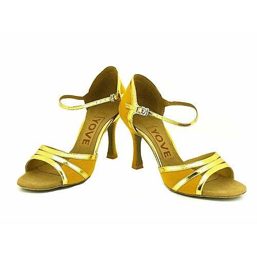 T.T-Q Zapatillas de Baile de Profesión para Mujeres Amarillas Amarillo