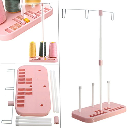 Arts Crafts & Sewing - Pink Spool Thread Stand Holder Household Sewing Machine Accessories - Bobbin Weave Endure Reel Yarn Tolerate String Resist Ribbon Rack Meander Pedestal Wind Suffer - 1PCs