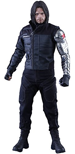 hot toys 1  6 mms351 civil war captain america bucky barnes winter soldier