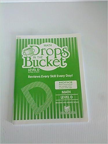 Math Drops in the Bucket, Level D: 4th Grade Skills: mary jo hard ...