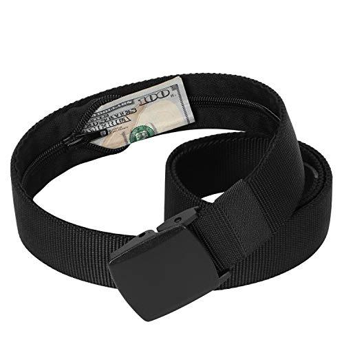 [해외]남자 여행 돈 나일론 벨트 보안 숨겨진 지퍼 지갑 포켓 벨트 플라스틱 버클 / Men Travel Money Nylon Belt Security Hidden Zipper Wallet Pocket Belt Plastic Buckle