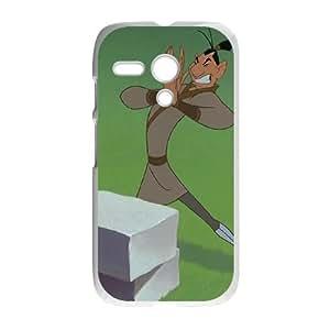 Motorola G Cell Phone Case White Disney Mulan Character Ling 004 VA2415471