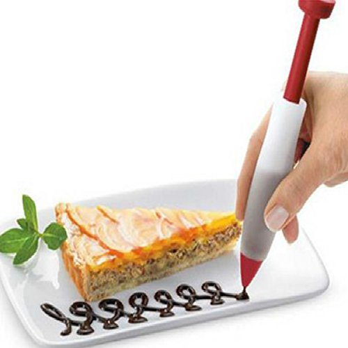 Joinwin Hot Sale Silicone Plate Paint Pen Cake Cookie Pastry Cream Chocolate Decorating Syringe