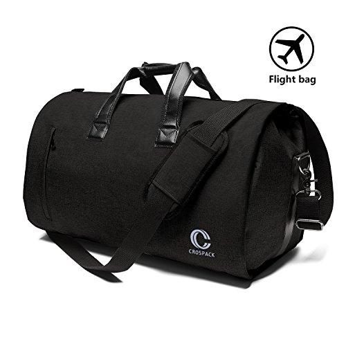 6d6af15160 Crospack Business Travel Duffle Bag Garment Bag 55L Super Capacity Crazy  Horse Leather Travel Bag for