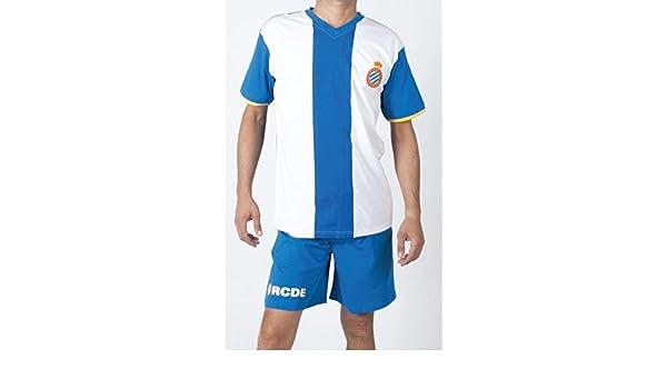 FUTBOL Pijama Real Club Deportivo Espanyol niño Talla 14-12 y 2-2 ...