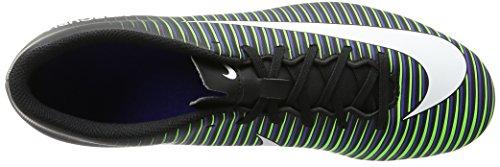 Nike Men's Mercurial Vortex III Fg Football Boots, Navy Black (Black/White-paramount Blue-electric Green-hyper Orange)